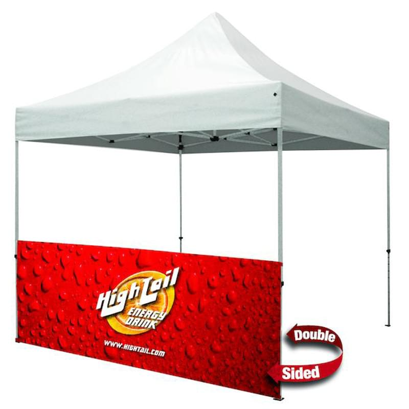 10' Half Wall w/Bar (Premium, 2-Sided, Dye Sublimation)