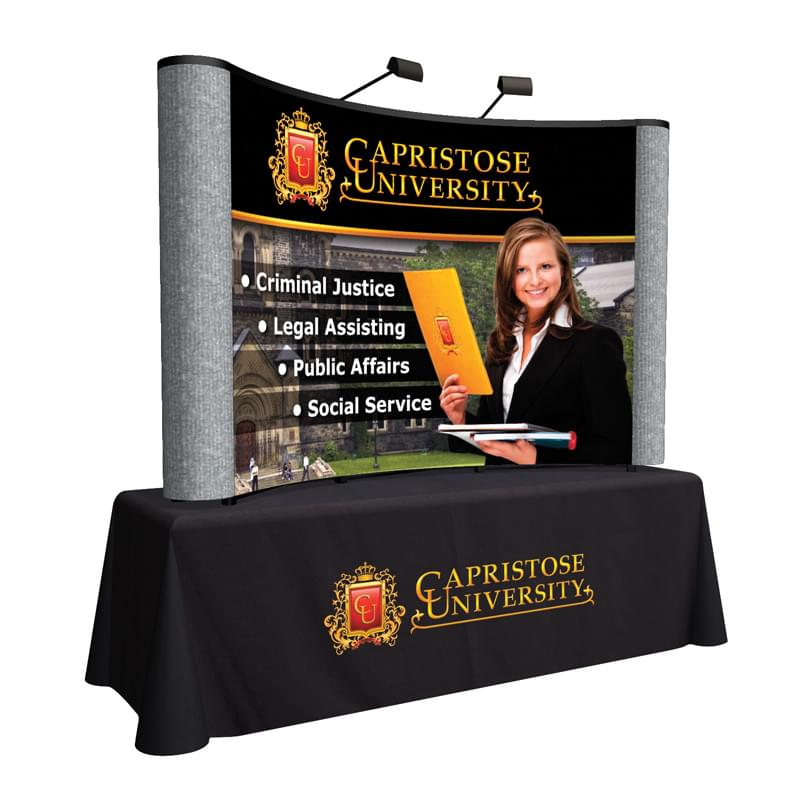 8' Arise Curved Tabletop Kit (Mural with Fabric Ends)