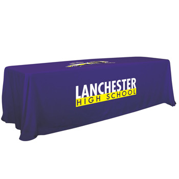 8' Convertible Table Throw (Two Location Full-Color Thermal Imprint)