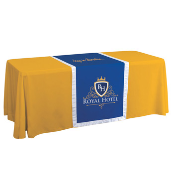 "28"" Accent Table Runner (Two Location Full-Color Thermal Imprint"
