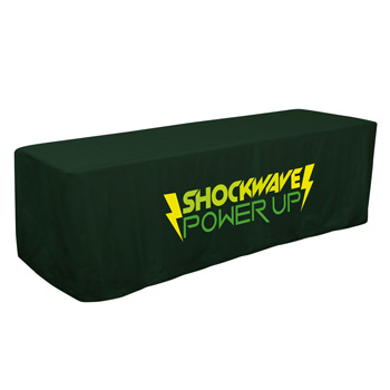 8' Decobrite Three-Sided Table Cover (One Imprint Location)