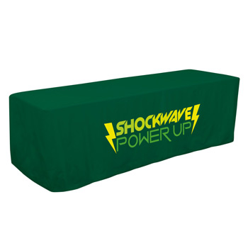 8' Decobrite Four-Sided Table Cover (One Imprint Location)