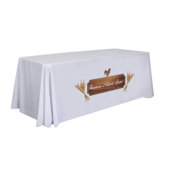 6' Standard Table Throw Dye-Sub (Full-Color, Front-Only)