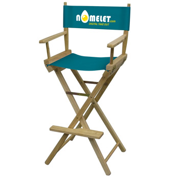 Bar-Height Director's Chair (Full-Color Thermal Imprint)