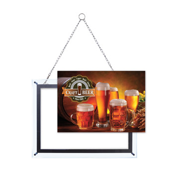"14"" x 20"" Crystal Edge Display Graphic Insert"