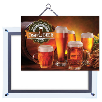 "25"" x 31"" Crystal Edge Display Graphic Insert"