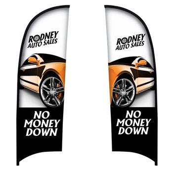 9' Premium Razor Sail Sign Flag, 2-Sided
