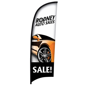 9' Premium Razor Sail Sign Flag, 1-Sided