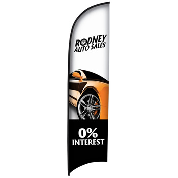 13' Premium Razor Sail Sign Flag, 1-Sided