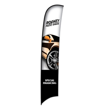 17' Premium Razor Sail Sign Flag, 1-Sided