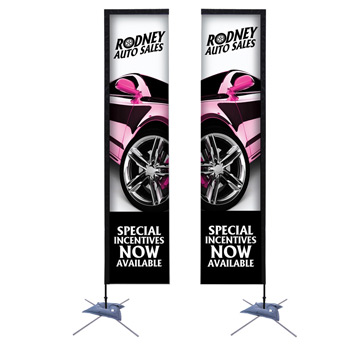 14.5' Premium Rectangle Sail Sign, 2-Sided, Scissor Base