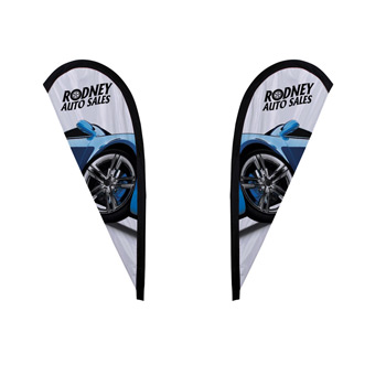 6' Premium Teardrop Sail Sign Flag, 2-Sided