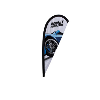 6' Premium Teardrop Sail Sign Flag, 1-Sided