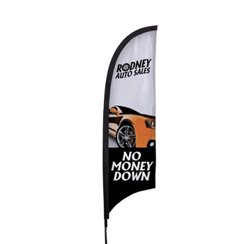 7' Premium Razor Sail Sign Flag, 1-Sided