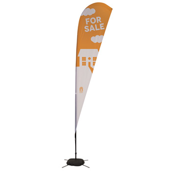 11.5' Streamline Teardrop Sail Sign, 1-Sided, Scissor Base