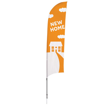 13' Streamline Razor Sail Sign, 1-Sided, Ground Spike