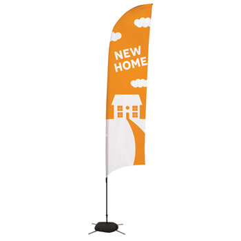 13' Streamline Razor Sail Sign, 1-Sided, Scissor Base
