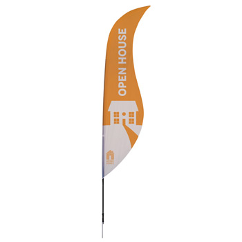 13' Streamline Sabre Sail Sign, 1-Sided, Ground Spike