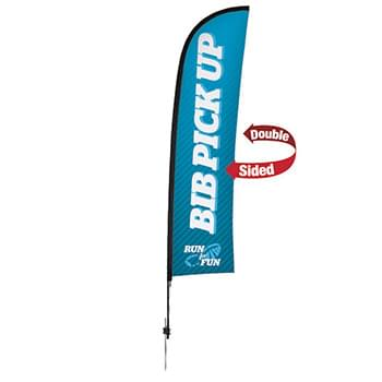 13' Premium Blade Sail Sign, 2-Sided, Ground Spike