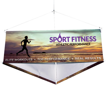 10' Three-Sided Hanging Banner Kit