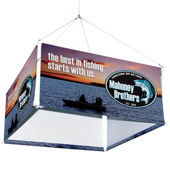 6' Four-Sided Hanging Banner Kit