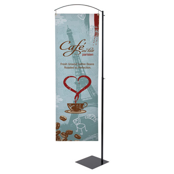 Curved Cantilever Banner Display Kit