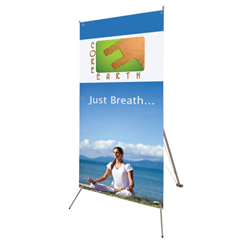 "32"" x 72"" Tripod Banner Display Kit"