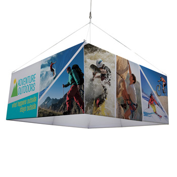 8' Square EuroFit Fabric Hanging Banner Kit
