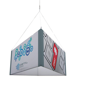 8' Triangle EuroFit Fabric Hanging Banner Kit