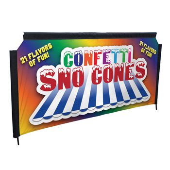 Four Season Event Barrier II Single-Sided Banner