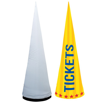 8' Cyclone Inflatable Cone Replacement Graphic