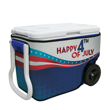 40-Quart Wheeled Cooler with Rappz Cover