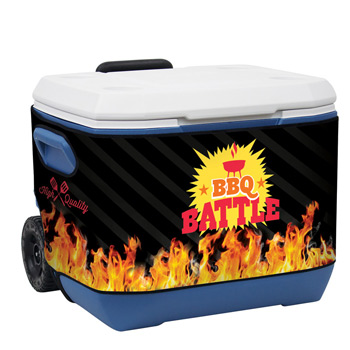 50-Quart Wheeled Cooler with Rappz Cover