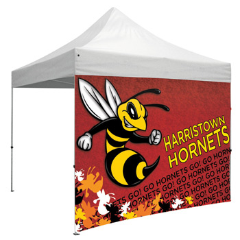 10 Foot Wide Tent Full Wall Only with Zipper Ends (Full-Color Full Bleed Dye-Sublimation)
