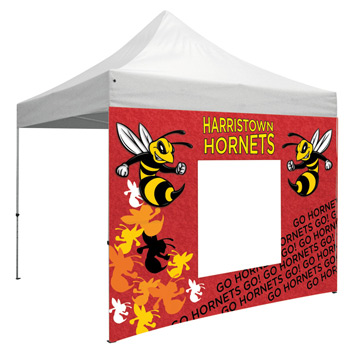 10 Foot Wide Tent Window Wall Only with Zipper Ends (Full-Color Full Bleed Dye-Sublimation)