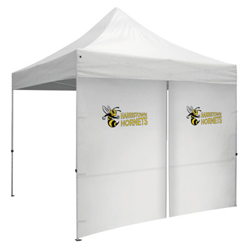 10 Foot Wide Tent Middle Zipper Wall with Zipper Ends - White Only (Full-Color Thermal Imprint)