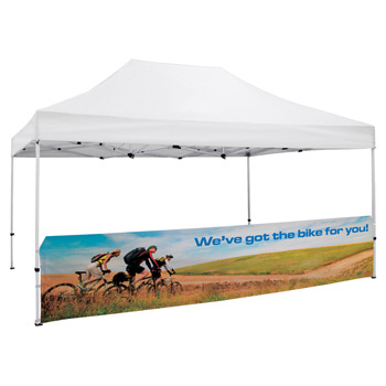 15' Half Wall for Event Tents (Dye Sublimation)