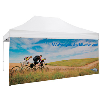 15 Foot Wide Tent Full Wall Only with Zipper Ends (Full-Color Full Bleed Dye-Sublimation)