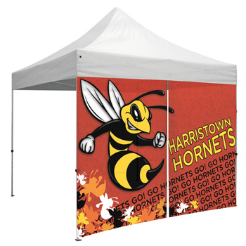 10 Foot Wide Tent Mesh Vinyl Middle Zipper Wall with Zipper Ends (UV Printed)