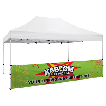 15 Foot Wide Tent Half Wall and Premium Stabilizer Bar Kit (Full-Color Full Bleed Dye-Sublimation)