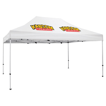 Premium Aluminum 15' Tent Kit (Imprinted, 2 Locations)