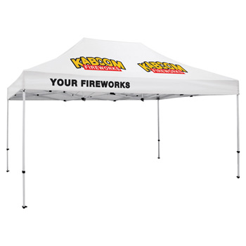 Premium Aluminum 15' Tent Kit (Imprinted, 3 Locations)