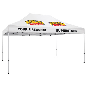 Premium Aluminum 15' Tent Kit (Imprinted, 4 Locations)