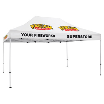 Premium Aluminum 15' Tent Kit (Imprinted, 5 Locations)