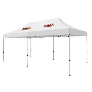 Premium Aluminum 20' Tent Kit (Imprinted, 2 Locations)