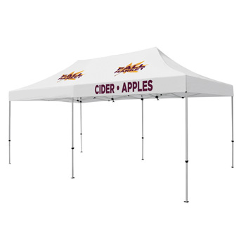 Premium Aluminum 20' Tent Kit (Imprinted, 3 Locations)