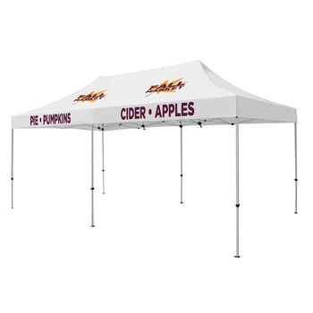 Premium Aluminum 20' Tent Kit (Imprinted, 4 Locations)