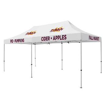 Premium Aluminum 20' Tent Kit (Imprinted, 5 Locations)