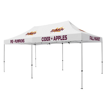 Premium Aluminum 20' Tent Kit (Imprinted, 9 Locations)