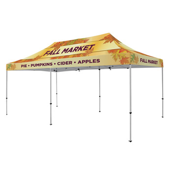 Premium Aluminum 20' Tent Kit (Full-Bleed Dye Sublimation)